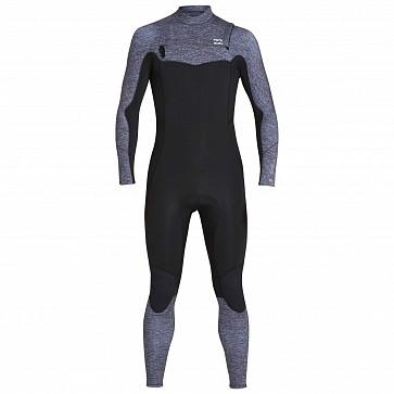 Billabong Furnace Absolute Comp 4/3 Back Zip Wetsuit - Grey Heather