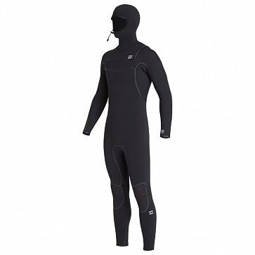 Billabong Furnace Ultra 5/4 Hooded Chest Zip Wetsuit - Black