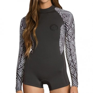 Billabong Women's Spring Fever Long Sleeve Spring Wetsuit - Geo Diamond