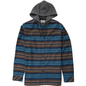 Billabong Baja Hooded Flannel - Navy