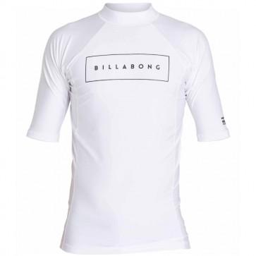 Billabong Wetsuits All Day United Performance Short Sleeve Rash Guard - White