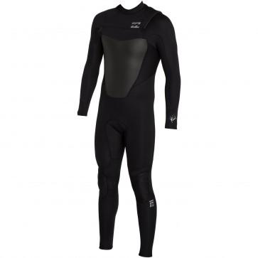 Billabong Foil Plus 4/3 Chest Zip Wetsuit - Black