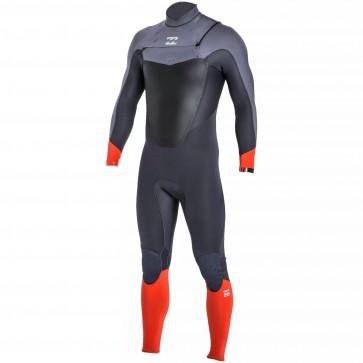 Billabong Absolute Comp 3/2 Chest Zip Wetsuit - Orange
