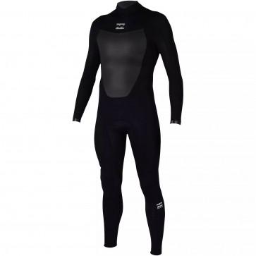 Billabong Absolute 3/2 Flatlock Back Zip Wetsuit - Black