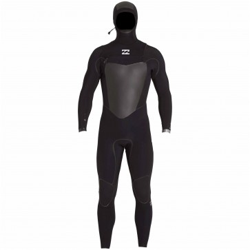 Billabong Furnace Carbon X 5/4 Hooded Chest Zip Wetsuit - Black