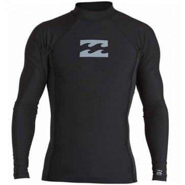 Billabong Wetsuits All Day Wave Performance Long Sleeve Rash Guard - Black