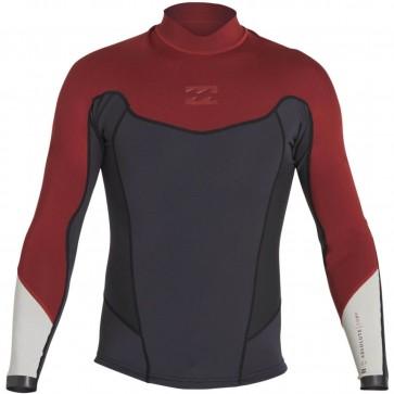 Billabong Wetsuits Absolute Comp 2mm Long Sleeve Jacket - Biking Red