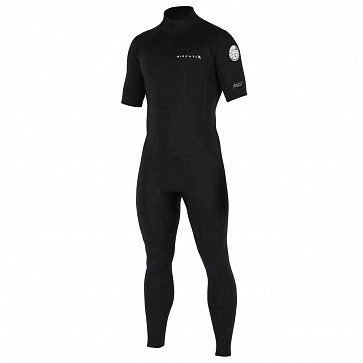 Rip Curl Aggrolite 2mm Short Sleeve Back Zip Wetsuit - Black