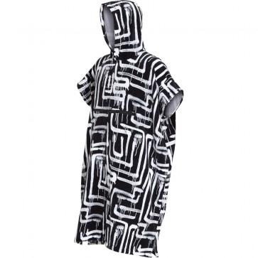 Billabong Hooded Poncho -Black Print