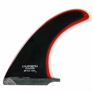 True Ames 9'' California Classic Fin - Black/Red/Clear