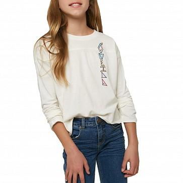 O'Neill Youth Girls Camper Long Sleeve T-Shirt - Winter White