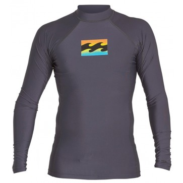 Billabong Wetsuits All Day Wave Performance Long Sleeve Rash Guard - Charcoal