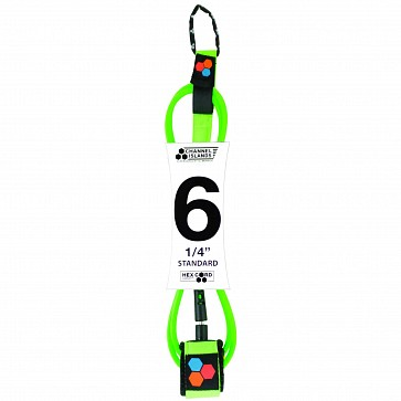 Channel Islands Hex Comp Leash - Fluro Green