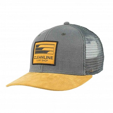Cleanline Lines Mesh Hat - Charcoal/Tan
