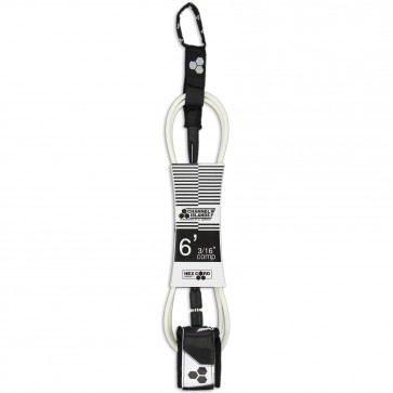 Channel Islands Parker Coffin Comp Hex Cord Leash - White
