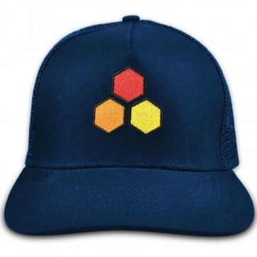 Channel Islands Curren Hex Twill Trucker Hat - Navy