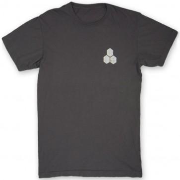 Channel Islands Stamped Flag T-Shirt - Black Washed