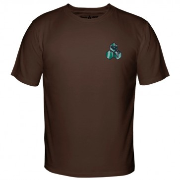 Channel Islands Salmon Hex T-Shirt - Dark Chocolate