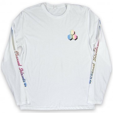 Channel Islands Rail Sleeve Long Sleeve T-Shirt - Bone White
