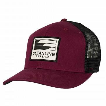 Cleanline Lines Hat - Maroon/Black