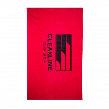 Cleanline Lines Towel - Red