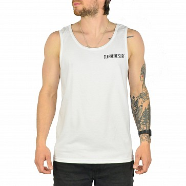 Cleanline Sunset Fin Tank - White