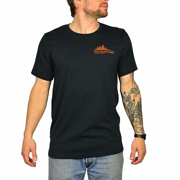 Cleanline Treeline Cannon Beach T-Shirt - Vintage Black