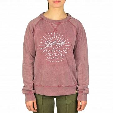 Cleanline Women's Good Vibes Sweatshirt - Cranberry