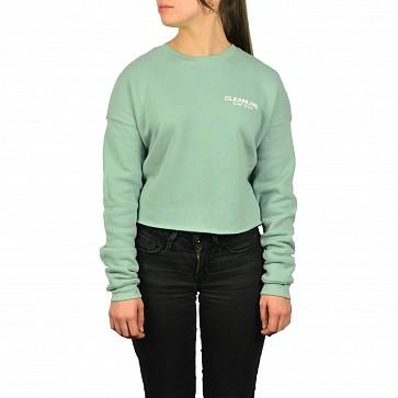 Cleanline Women's Lines Cropped Sweatshirt - Dusty Blue