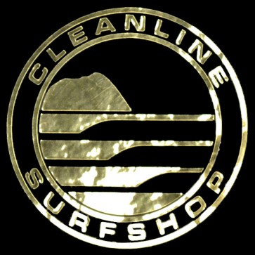 Cleanline Surf Big Rock Circle Sticker - Gold
