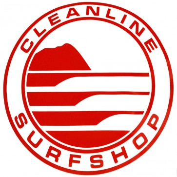 Cleanline Surf Big Rock Circle Sticker - Red