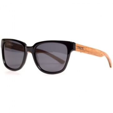 Cassette Madness Polarized Sunglasses - Black/Zebrawood/Smoke