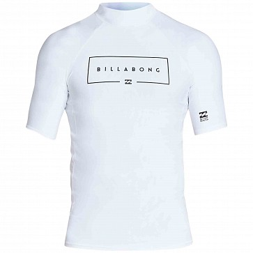 Billabong Union Performance Fit Short Sleeve Rash Guard - White