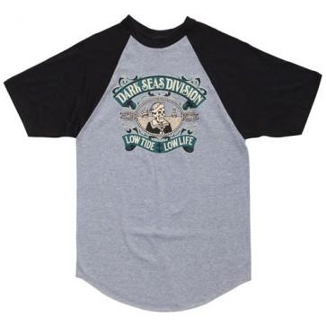 Dark Seas Midshipman Jersey T-Shirt - Heather Grey/Black