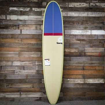 Torq Longboard 9'0 x 22 3/4 x 3 1/8 Surfboard - Sand/Red/Grey - Top