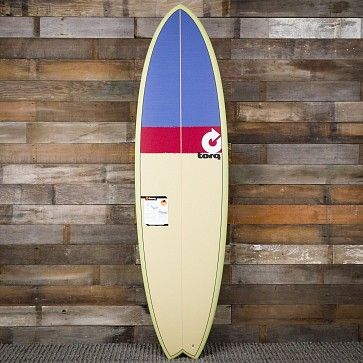 Torq Mod Fish 6'10 x 21 3/4 x 2 3/4 Sufboard - Sand/Red/Grey - Deck