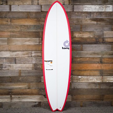 Torq Mod Fish 6'10 x 21 3/4 x 2 3/4 Surfboard - Red/White - Deck