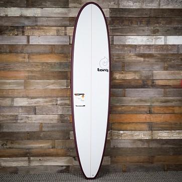 Torq Mini Longboard 8'0 x 22 x 3 Surfboard - Burgundy/White - Deck