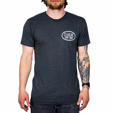 Cleanline Anchor Cannon Beach T-Shirt - Black/Heather