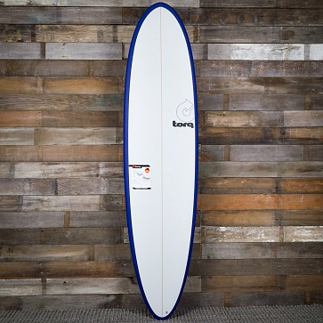 Torq Mod Fun 7'6 x 21 1/2 x 2 7/8 Surfboard - Navy Blue/White - Deck