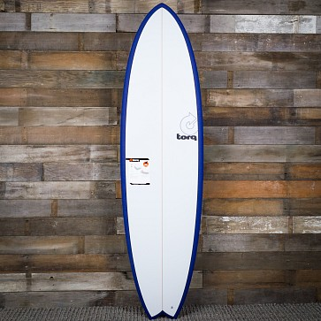 Torq Mod Fish 6'10 x 21 3/4 x 2 3/4 Sufboard - Navy Blue/White - Deck