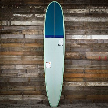 Torq Longboard 9'6 x 23 1/2 x 3 1/4 Surfboard - Seagreen/Navy/Green - Deck