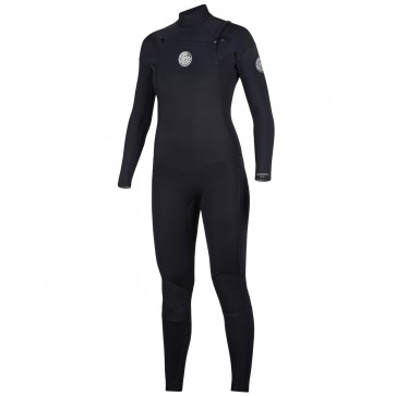 Rip Curl Women's Dawn Patrol 4/3 Chest Zip Wetsuit - Black