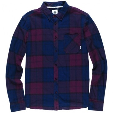 Element Buffalo Long Sleeve Flannel - Napa Red