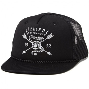 Element Gothic Snake Trucker Hat - Flint Black
