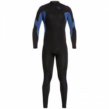 Quiksilver Syncro 3/2 Chest Zip Wetsuit - Black/Iodine Blue