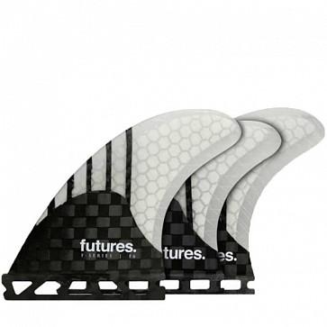 Futures Fins F6 Generation Tri-Quad - Carbon/Clear