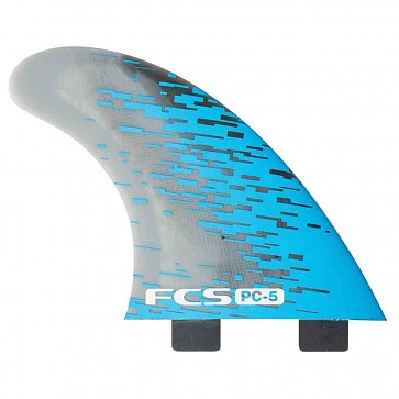 FCS Fins PC5 Tri-Quad Fin Set - Blue Smoke