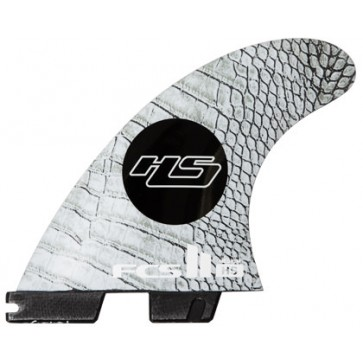 FCS II Fins HS PCC Medium Tri Fin Set - White/Carbon