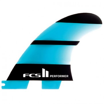 FCS II Fins - Performer Neo Glass Tri Medium - Blue/Black